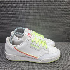 Womens Sz 6.5 White Adidas Continental 80 Sneakers